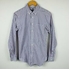 Uniqlo Mens Button Up Shirt Size Small Striped Long Sleeve Super Slim Fit