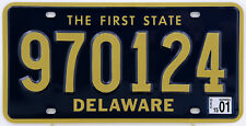 Plaque d'immatriculation américaine DELAWARE The First State