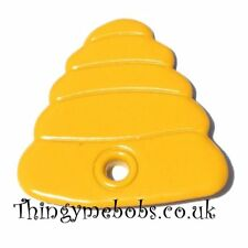 15 YELLOW BEE HIVE/BEEHIVE QUICKLETS (EYELETS) - CARD MAKING/SCRAP BOOKING
