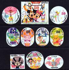 Japan 2013 80y Disney Characters set of 10 Fine Used