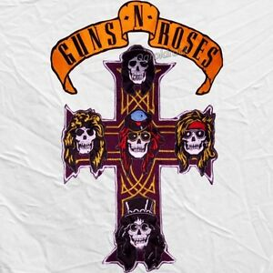 Guns N' Roses Embroidered Big Patches Skull Cross and Title Axl Rose Izzy Slash