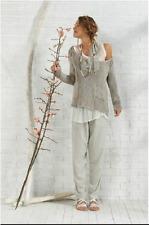 Eileen Fisher New Natural Ballet Neck Organic Linen Cotton  Box Top 1X $198