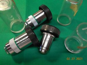 MICROSCOPE OBJECTIVES LOT LEITZ @4