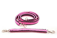 Firefighter Ems Police 550 Paracord Radio Strap Sling 60 With 13 Stabilzer Pink