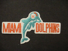 lot of 4 VINTAGE NFL MIAMI DOLPHINS EMBROIDERED IRON ON Patch -1980'S