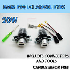 *20W BMW E90 LCI ANGEL EYE UPGRADE MARKER  XENON 6000K WHITE 3 SERIES LED 6k