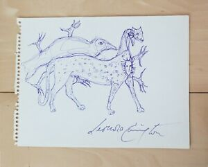 LEONORA CARRINGTON --Surreal Figures- INK ON PAPER