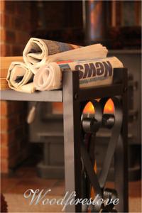 HERITAGE Indoor Log Rack / Firewood Storage WOOD HOLDER Fireplace Accessories