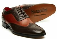 Men's Formal Leather Shoes,1940's Italian Vintage Brogue, gangster shoes (Fabrio