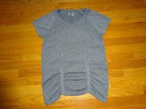 Women's Athleta Gray Heather T-Shirt Blouse Shirt Size L