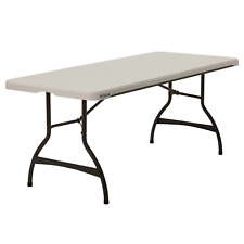 Lifetime 6' Commercial Grade Stacking Folding Table, Almond