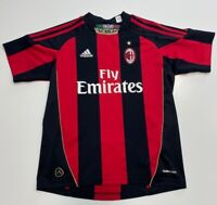 ADIDAS AC MILAN 2010 / 2011 HOME SOCCER JERSEY RED USED YOUTH SIZE M