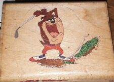 Looney tunes, taz,golf,devils dirt,rubber stampede,B701,rubber, wood
