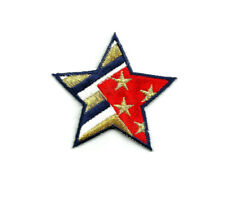 Star - Patriotic - American - USA - Flag - Crafts - Embroidered Iron On Patch