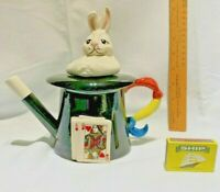 swineside teapottery   magicians  top  hat with rabbit in  bnib