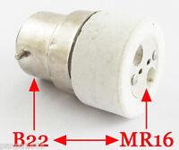 10x B22 Male to MR16 Female Socket Base LED Halogen CFL Light Bulb Lamp Adapter