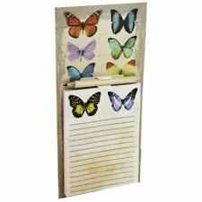 Butterfly Magnetic Memo Note Pad Pencil Memory Shopping List Fridge Magnet