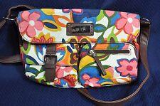 Relic by Fossil Handbag Purse Canvas Floral Cross Body Adjustable Strap Flap