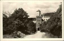 Hrad Bítov Tschechien s/w AK 1950 datiert Blick auf den Eingang der Burg Turm