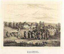 WEISCHLITZ - RITTERGUT KRÖSTAU - Poenicke - Tonlithografie 1854