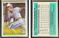 Charlie Moore Signed 1984 Donruss #292 Card Milwaukee Brewers Auto Autograph