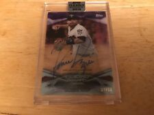 2018 Topps Clearly Authentic Brian Dozier auto purple parallel #'d 04/10