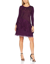 Joe Browns Mix It up Dress Purple UK Size 18 Td091 JJ 10