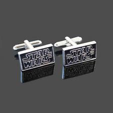 Black+Silver Star Wars Men's Shirt Wedding Business Cufflinks Cuff Links Gift