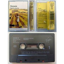 GENESIS Nursery Cryme (Cassette Tape) Charisma / Virgin Ex Condition