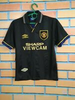 Manchester United Jersey 1993 1995 Away Kids Boys LARGE Shirt Football Umbro