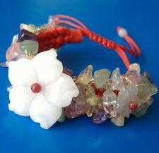 Girl/Women,jade flowers Weave red bracelet,adjustable 16-19cm
