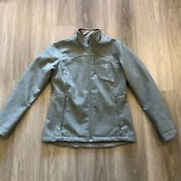 The North Face Womens Medium Gray Windwall Zip Up Softshell Jacket Polyester