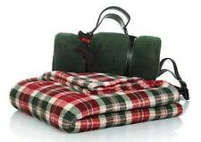 New Listing2 Set Christmas Holiday Blanket Jeffrey Banks Plush Throws-Christmas Plaid/Green