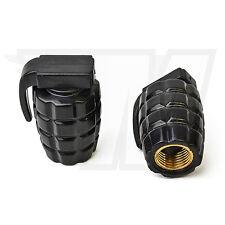 2x Tapón De La Válvula AUS plástico para Neumáticos coche, Granada mano negro