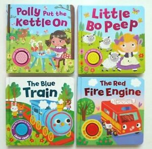 Single Sound Book - Kids Sing Along - Famous Nursery Rhymes - Hardback