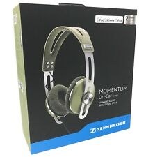 NEW SENNHEISER Momentum On-Ear Headphones Inline Remote & Mic for Apple (GREEN)