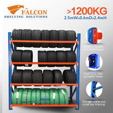 2.5mWx0.6mDx2.4mH,Tyres Storage Racks Stands Shelf Shelves Shelving Rackings, S
