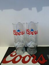 More details for 2 x coors light pint glasses new shape 2021