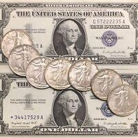 Walking Liberty Half Dollar & Silver Certificate!