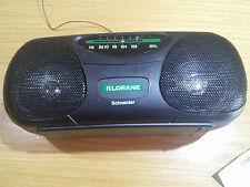 GADGET MR18 FM RADIO PORTATILE DELLA SCHNEIDER PER KLORANE ANNI 2000 4 PILE 1,5V