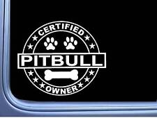 "Certified Pitbull L258 Dog Sticker 6"" decal"