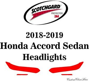 3M Scotchgard Paint Protection Film Clear 2018 2019 2020 Honda Accord Sedan