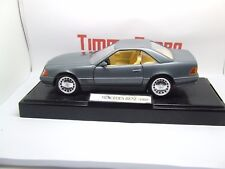 B MERCEDES BENZ SL 500 1989 ON DISPLAY STAND IN GREY 180 MM LONG