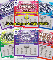 Secret Santa Xmas Gag Gift PRANK - £50,000 FAKE WINNING JOKE SCRATCH CARDS -