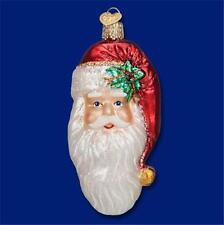 NOSTALGIC SANTA CLAUS HEAD OLD WORLD CHRISTMAS BLOWN GLASS ORNAMENT NWT 40256