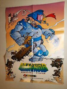 The Mighty Magnor - Sergio Aragones & Mark Evanier 1993 Comic Promo Poster VF/NM