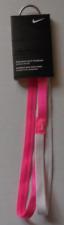 Nike Unisex Satin Twist Hairband/Headband Color Pink Pow/White Osfm New