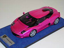 1/18 Looksmart MR Lamborghini 5-95 Zagato Pink Flash silver wheels