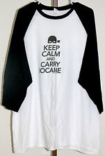 Princess Bride Keep Calm and Carry Iocane 3/4 Sleeve Shirt 2XL White Black
