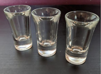 Vintage Shooter Shot Glass Set of 3 Tall Shooters